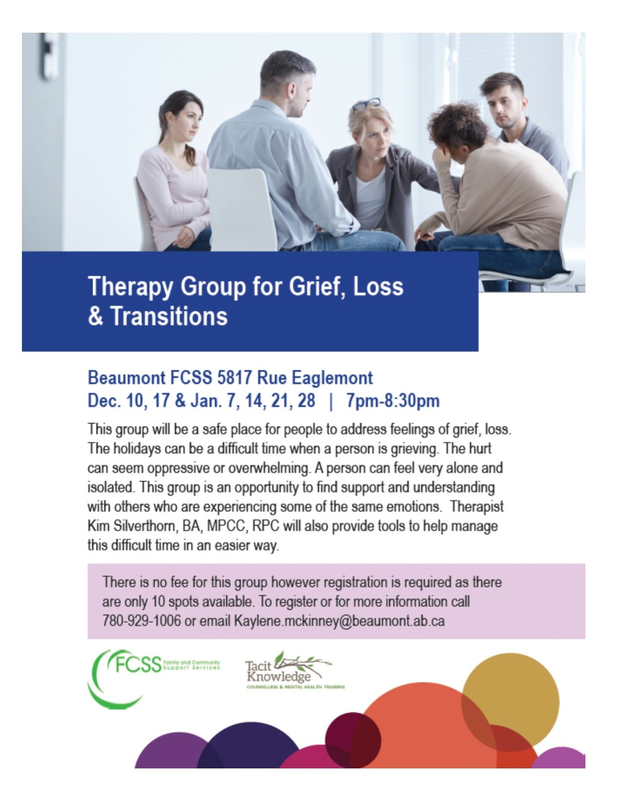 Therapy Group for Grief, Loss and Transitions