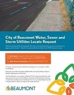 Water Sewer & Storm Utilities Locate Request Opens in new window