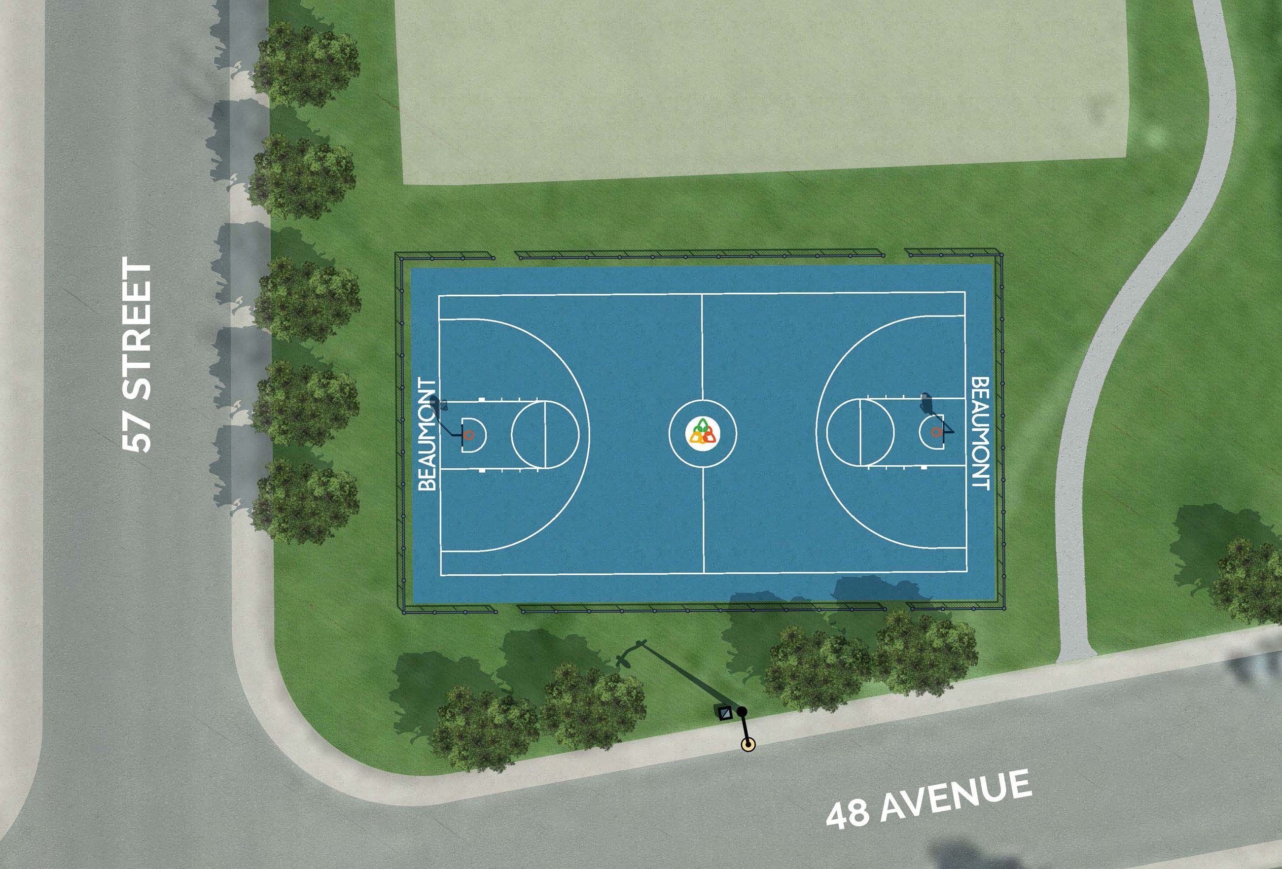 Proposed Basketball Court Location